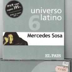 CDs de Musique: MERCEDES SOSA - UNIVERSO LATINO VOL. 6 (CD, EUROTROPICAL MUXXIC 2001). Lote 155755466