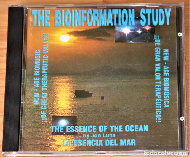CDs de Música: BIOINFORMATION STUDY. LA ESENCIA DEL OCEANO. JON LUNA. CD - Foto 2 - 155759410