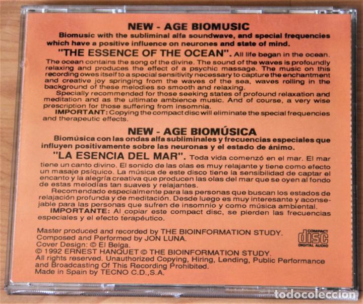 CDs de Música: BIOINFORMATION STUDY. LA ESENCIA DEL OCEANO. JON LUNA. CD - Foto 3 - 155759410