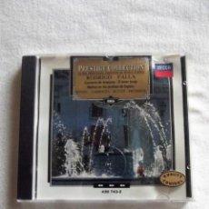 CDs de Música: RODRIGO - FALLA CONCIERTO DE ARANJUEZ,EL AMOR BRUJO, NOCHES EN LOS JARDIN PRESTIGE COLLECTION Nº 89. Lote 155799730