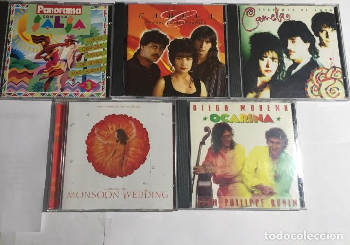 2 CAMELA ,MONSOON WEDDING, PANORAMA CON LA SALSA , OCARINA / 5 CDS ORIGINALES. (Música - CD's Otros Estilos)