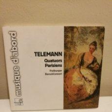 CDs de Música: TELEMANN - QUATOURS PARISIENS - FREIBURGER BAROCKCONSORT - MUSIQUE D'ABORD 2007 AUSTRIA. Lote 155919798