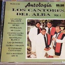 CDs de Música: LOS CANTORES DEL ALBA. ANTOLOGÍA / VOL. 1 / CD-M&M-ARGENTINA - 1994 / 10 TEMAS / MUY BUENA CALIDAD.. Lote 155955622