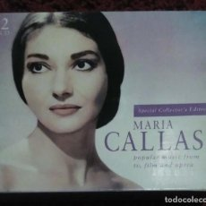 CDs de Música: MARIA CALLAS (POPULAR MUSIC FROM TV, FILM AND OPERA) 2 CD'S + LIBRETO 2000. Lote 155955806