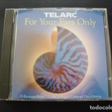 CDs de Música: FOR YOUR EARS ONLY. TELARC. CD. 1991.. Lote 155987850