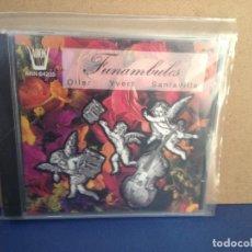 CDs de Música: OLLER / YVERT / SANTAVILLE - FUNAMBULES (FOLK FRANCIA) ALBUM CD 1993. NM - NM. Lote 155987970