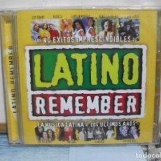 CDs de Música: LATINO REMEMBER. LA MÚSICA LATINA DE LOS ÚLTIMOS AÑOS DOBLE CD ALBUM . Lote 155996206