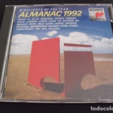 CDs de Música: ALMANAC 1992. HIGHLIGHTS OF THE YEAR. CD.. Lote 155996414