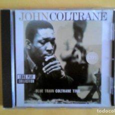 CDs de Música: JOHN COLTRANE - BLUE TRAIN & COLTRANE TIME - LONG PLAY COLLECTION CD MUSICA. Lote 156009146