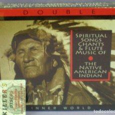 CDs de Música: SPIRITUAL SONGS, TRADITIONAL CHANTS & FLUTE MUSIC OF THE AMERICAN INDIAN - 2XCD PRECINTADO. Lote 156050218