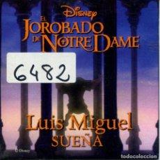CDs de Música: LUIS MIGUEL / SUEÑA (EL JOROBADO DE NOTRE DAME) - (CD SINGLE CARTON PROMO 1996). Lote 156072242