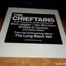 CDs de Música: THE CHIEFTAINS THE LONG BLACK VEIL CD SINGLE PROMO ALEMANIA 1994 MICK JAGGER VAN MORRISON 3 TEMAS. Lote 156316346