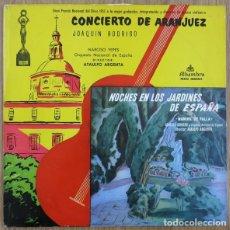 CDs de Música: CONCIERTO DE ARANJUEZ / NOCHES EN LOS JARDINES DE ESPAÑA (ESPAÑA, 1962). Lote 156348358