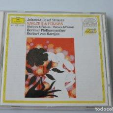 CDs de Música: JOHANN & JOSEF STRAUSS. WALZER & POLKAS CD. Lote 156471174