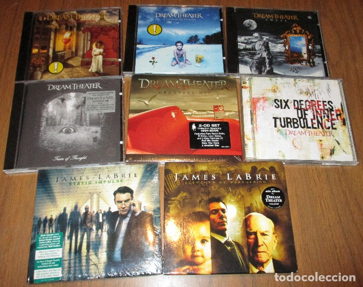 10 CD - DREAM THEATER Y JAMES LABRIE-AWAKE-TRAIN OF THOUGHT-IMAGES AND WORDS-GREATEST HIT........... (Música - CD's Heavy Metal)