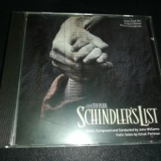 CDs de Música: BSO SCHINDLERD'S LIST, WILLIAMS, PERLMAN. Lote 156569222