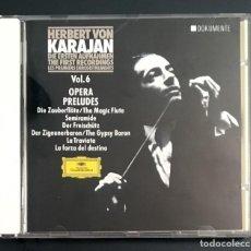 CDs de Música: KARAJAN - THE FIRST RECORDINGS - OPERA PRELUDES. Lote 156595854