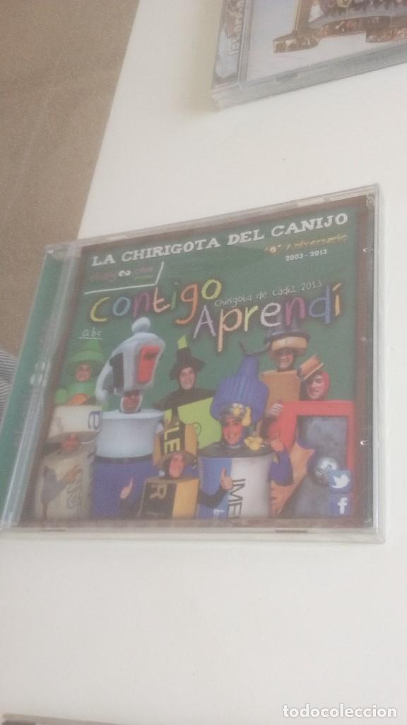 G-PPVP19 CD MUSICA CARNAVAL DE CADIZ NUEVO PRECINTADO CHIRIGOTA CONTIGO APRENDI (Música - CD's Otros Estilos)