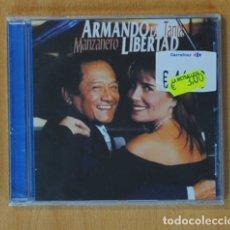 CDs de Música: MANZANERO / TANIA - ARMANDO LA LIBERTAD - CD. Lote 156608065