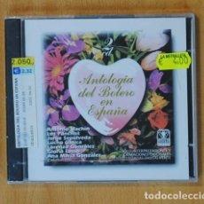 CDs de Música: VARIOS - ANTOLOGIA DEL BOLERO EN ESPAÑA - 2 CD. Lote 156608713