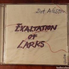 CDs de Música: DOT ALLISON - EXALTATION OF LARKS CD. Lote 156649828