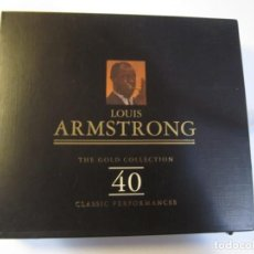 CDs de Música: DOBLE CD LOUIS ARMSTRONG THE GOLD COLLECTION . Lote 156751870