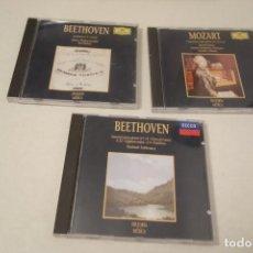 CDs de Música: 1 CD'S MOZART CONCIERTO PARA PIANO Y 2 CD'S DE BEETHOVEN SONATA Nº 14 , SINFONIA Nº 9. Lote 156777662