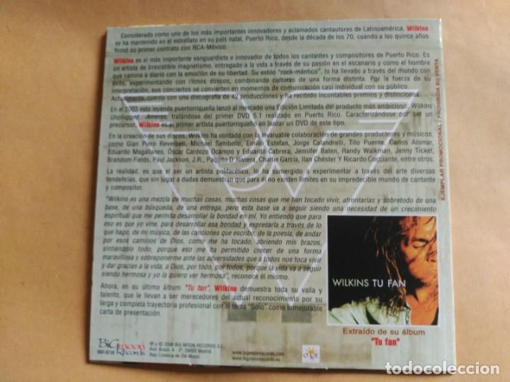 CDs de Música: 1 TRACK PROMO CD WILKINS - SOLO - SPAIN 2006 EX - Foto 3 - 156813158