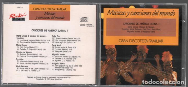 GRAN DISCOTECA FAMILIAR Nº 47 - CANCIONES DE AMERICA LATINA I / CD DE 1991 RF-890 (Música - CD's Latina)
