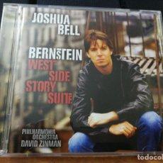 CDs de Música: JOSHUA BELL BERNSTEIN WEST SIDE STORY SUITE CD ALBUM AÑO 2001 AUSTRIA 9 TEMAS CLASICA VIOLIN RARO. Lote 157064098