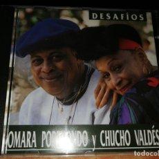 CDs de Musique: OMARA PORTUONDO Y CHUCHO VALDES DESAFIOS CD ALBUM PROMO ESPAÑA CONTIENE 13 TEMAS . Lote 157266898
