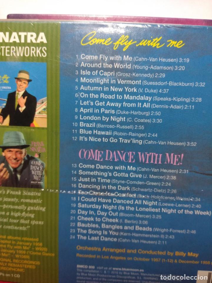 CDs de Música: CD FRANK SINATRA ( DIGIPACK INCLUYENDO LOS ALBUMES COME FLY TO ME + COME DANCE WITH ME) - Foto 2 - 157283126