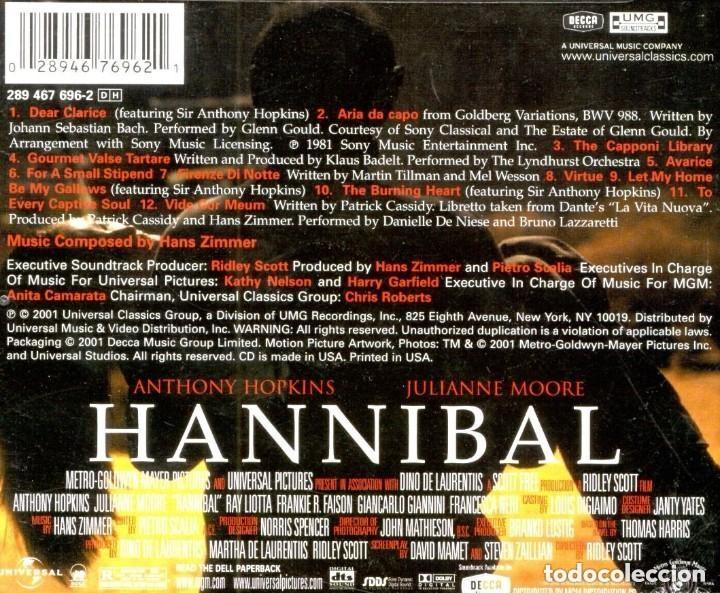 CDs de Música: HANNIBAL / Hans Zimmer CD BSO - Foto 2 - 193367285