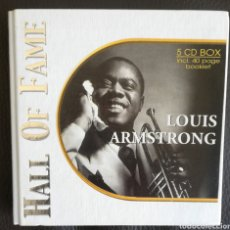 CDs de Música: LOUIS ARMSTRONG HALL OF FAME BOX 5 CD. Lote 157808702