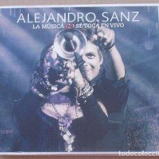 CDs de Música: ALEJANDRO SANZ - LA MUSICA NO SE TOCA EN VIVO (CD+DVD) 2013. Lote 157851706