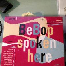 CDs de Música: VARIOUS – BEBOP SPOKEN HERE (4XCD). Lote 157882718