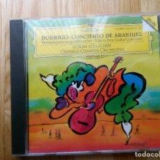 CDs de Música: CD RODRIGO, CONCIERTO DE ARANJUEZ, FANTASIA GENTILHOMBRE, VILLA-LOBOS CONCERTO, GUITARRA, SOLLSCHER. Lote 157938014