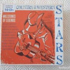 CDs de Música: COUNTRY & WESTERN STARS. CAJA CON 10 COMPACTOS CON 20 ALBUMES. DOCENAS DE BUENAS CANCIONES DEL MEJOR. Lote 158013322