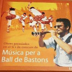 CDs de Música: MÚSICA PER A BALL DE BASTONS / OBRES PREMIADES / 1ER I 2ON CONCURS / DIGIPACK-CD / LIBRETO 39 PAG.. Lote 158154742