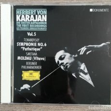 CDs de Música: KARAJAN - THE FIRST RECORDINGS - FILARMÓNICA DE BERLÍN - TCHAIKOVSKY - SMETANA. Lote 158174074