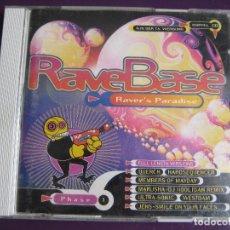 CDs de Música: RAVEBASE PHASE 1 DOBLE CD POLYSTAR 1994 - ELECTRONICA TECHNO TRANCE ACID . Lote 158206606