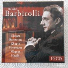 CDs de Música: SIR JOHN BARBIROLLI. CAJA CON 10 COMPACTOS. MOZART. BEETHOVEN. CHOPIN. SCHUMANN. WAGNER. HAYDN... 30. Lote 158216002