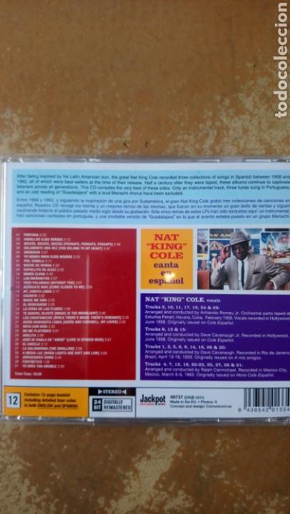CDs de Música: Nat King Cole–Nat King Cole Canta En Español! - CD perfecto estado. Jackpot records. - Foto 2 - 158227426