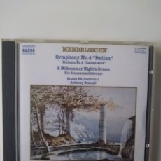 CDs de Música: MENDELSSOHN.SYMPHONY 4.ITALIAN.CD.1987.. Lote 158304078