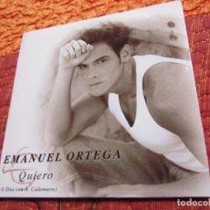 CDs de Musique: EMANUEL ORTEGA- MAXI-CD- TITULO QUIERO DUETO CON ANDRES CALAMARO-1 TEMA- PROMO- NUEVO. Lote 158307682