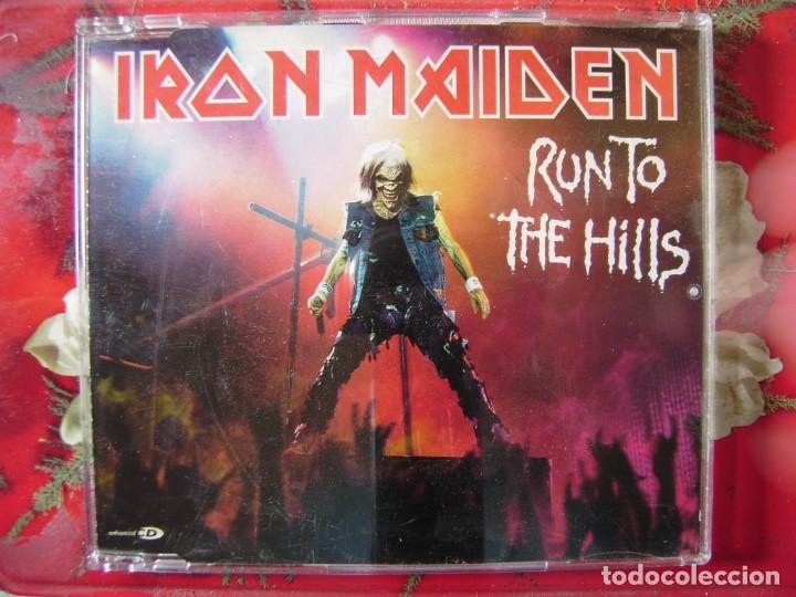 IRON MAIDEN.RUN TO THE HILLS..CD MAXI..5 TEMAS (Música - CD's Heavy Metal)