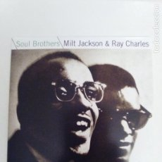 CDs de Música: MILT JACKSON & RAY CHARLES SOUL BROTHERS ( 1961 DOL 2018 ) MINI REPLICA EXCELENTE ESTADO. Lote 158332842