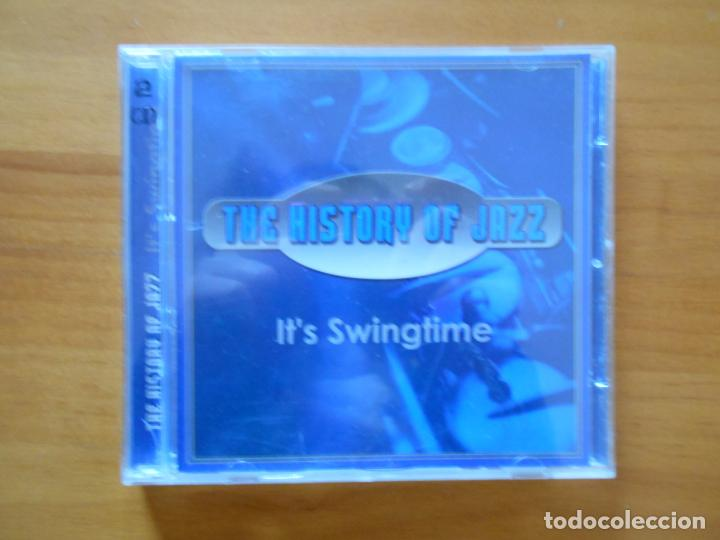CD THE HISTORY OFF JAZZ - IT'S SWINGTIME (2 CD'S) - ANDREW SISTERS, GLENN MILLER... (CR) (Música - CD's Jazz, Blues, Soul y Gospel)