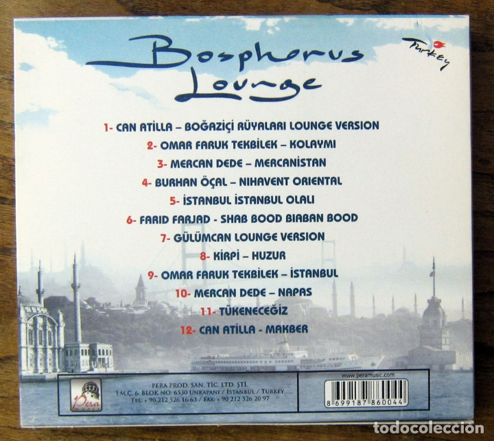 CDs de Música: BOSPHOROUS LOUNGE - 2006 - CHILL OUT, TURQUIA - CAN ATILLA, OMAR FARUK - Foto 2 - 158396882