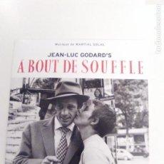 CDs de Música: A BOUT DE SOUFFLE ( 1958 DOL 2018 ) JEAN LUC GODARD BELMONDO SEBERG MARTIAL SOLAL EX EX. Lote 158443562